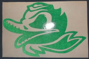Oregon Ducks Combat Duck Decal Car Window.Sticker Vinyl 6 X 4 Inches
