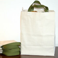 3 PAK Cotton CANVAS GROCERY BAG Shopping Totes USA MADE