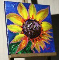 Sunflower Painting Sunflower Mutant Pop Art Style Artist Signed Mira COA
