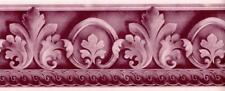 Scroll Acanthus Leaf Arabesque Floral Architectural Moulding Wallpaper Border
