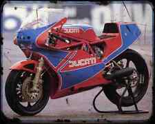 Ducati Tt1 A4 Metal Sign Motorbike Vintage Aged