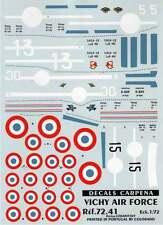 Colorado Decals 1/72 Vichy Air Force 1940-42 Part 1 # 72041