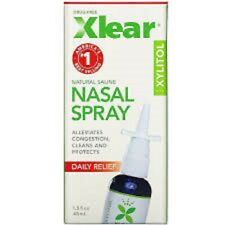 XLEAR Natural Saline Relief Nasal Spray with Xylitol - 1.5 FL OZ. Exp.10/2022