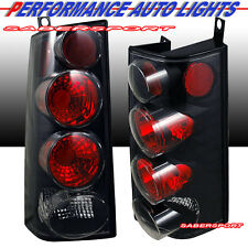 Pair Eagle Eyes Tail Lights (Black) for 1996-2002 Chevy Express Van / GMC Savana