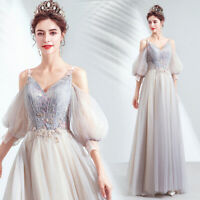 New Evening Formal Party Ball Gown Prom Bridesmaid Bead Sequins Dress TSJY7720