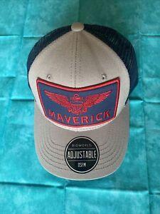 Top Gun Maverick Hat Cap Navy Aviator Snapback Embroidered Eagle Patch ~ New