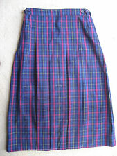 Girls Pleated School Check Skirt Uniform size 12 Brand New