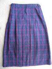 Girls Pleated Winter School Check Skirt Uniform size 12 New