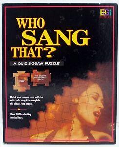 "Who Sang That A Quiz Jigsaw BGI Puzzles Music Trivia 1998 18 3/4"" X 24"""
