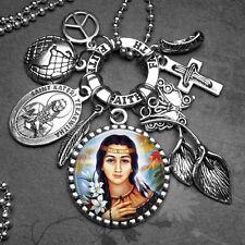 Environment Native Americans Patron St. Kateri Tekakwitha Picture Charm Necklace