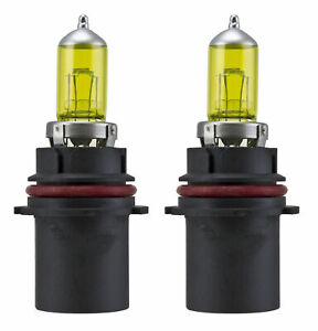 x2 9004 HB1 DOT Xenon HID Yellow 12V 100W Direct Replacement Light Bulbs b46