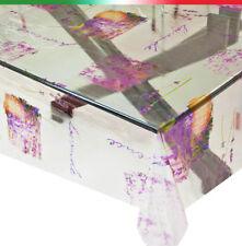 Tovaglia TRASPARENTE lucida plastifica AL METRO h140 antimacchia pvc lavanda