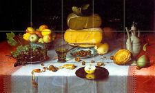 Art Floris van Dijck Mural Tumbled Marble Grape Cheese Backsplash Tile #263