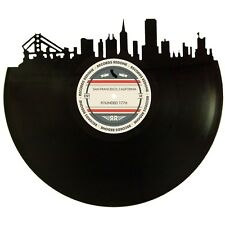 San Francisco Skyline Vinyl Record Art