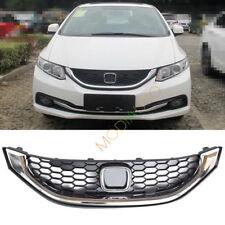 For Honda Civic Sedan 2013 2014 2015 Silver Chrome Auto Front Grille Grill