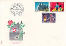 Schweiz  FDC Ersttagsbrief 1969 Jahresereignisse  Mi. 911-13