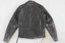 Harley Davidson Men's Corral Distressed Black Leather Jacket 97001-04VM S RARE