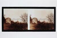 Provins Mura Francia Foto N2 Stereo Placca Da Lente Vintage 1927