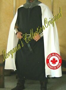Medieval Knight White Color Reenactment Cape Cloak