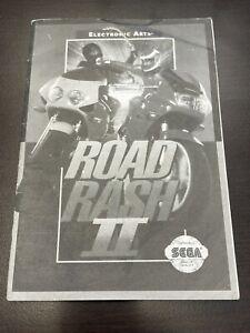 Road Rash II 2 Manual SEGA Genesis Instruction Booklet