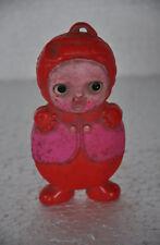 Vintage Cute Unique Pink Dwarf / Clown Celluloid Toy , Japan