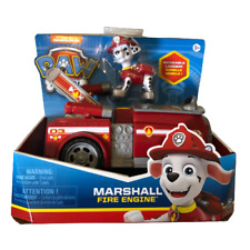 Nickelodeon Paw Patrol Marshall Fire Dog Figure & Fire Engine Toy - NEW