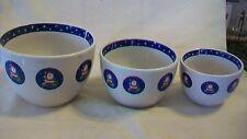 Set of Three Santa Claus Ceramic Nesting Bowls from Century