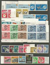 GHANA GOOD QUALITY & USEFUL MIXED MINT & USED MOSTLY  PRE DECIMAL COLLECTION