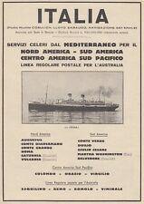 Z5353 Transatlantico Roma - Flotte Riunite Italia - Pubblicità d'epoca - 1932 ad
