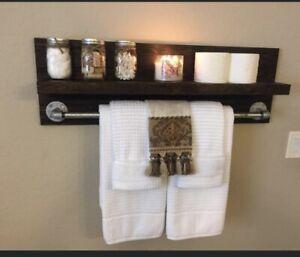 Rustic Towel Rack For Sale Ebay