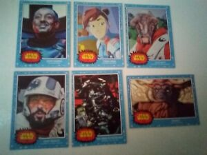 A COLLECTION OF SIX TOPPS STAR WARS LIVING SET CARDS