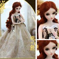 "Neue 24"" 1/3 BJD Doll Puppe Mädchen Augen Make-Up Perücke Kleidung Full Set Toys"