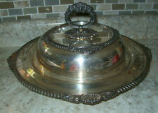 """Vintage King George E.P.C Silverplate  3 Section Casserole Serving Dish 15"""" x 9"""""""