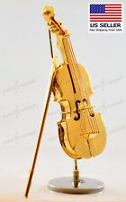 "Miniature Brass Violin or Viola, 4.5""  Perfect Music Gift"