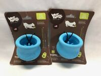 """Pack of 2 - West Paw Zogoflex Toppl Small 3"""" Dog Toy Blue"""