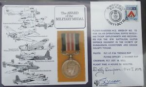 FDC Signed  Wally Simpson + one, Award of Military Medal, Jersey 1 Oct 1985