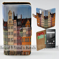 For Sony Xperia Series - Polish Colour Buildings Print Mobile Phone Case Cover