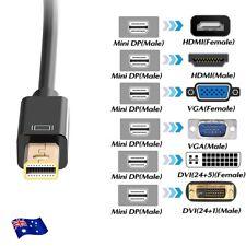 Mini Displayport DP to HDMI VGA DVI Display Port Adapter Cable for MacBook iMac