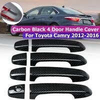 8X/Set Car Door Outer Handle Cover Trim For Toyota Gamry 2012-2016 Carbon
