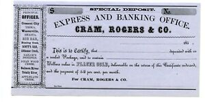 185X    Gram,Rogers & Company Express & Banking Company.   Placer Gold.