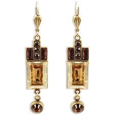 Vintage Ohrringe mit Swarovski Elements - Gold