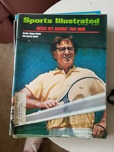 5/21/73 SPORTS ILLUSTRATED BOBBY RIGGS BEATS MARGARET COURT   GROBEE 1957
