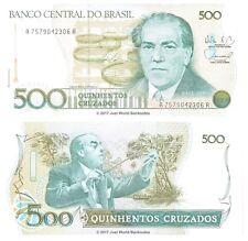 Brasil 500 Billetes Unc yeguas 1988 P-212d