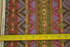 """By-the-Half-Yard, 42"""", Green Purple Brown Red Quilter's Cotton, Fabric Tr, M6726"""