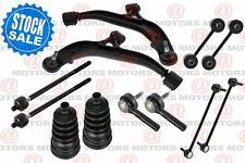 For CARAVAN 2001-04 Front Suspension Lower Control Arms Sway Bar Tie Rods Boots