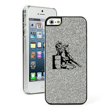 For Apple iPhone 4 4S 5 5S 5c GLITTER Bling Hard Case  Barrel Racing Cowgirl
