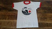 Vintage NOS Youth/Womens 1980s ROCHESTER Cotton Blend Thin Ringer T-Shirt Sz-L