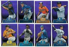 2012 Bowman Platinum Prospects PURPLE REFRACTOR Parallel Single Cards Ref #65-95