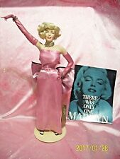 Franklin Mint Marilyn Monroe Diamonds Blondes Porcelain Doll ORIG STAND & PAPERS