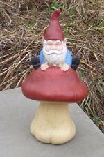 Concrete / Cement Statue Mold Gnome On A Mushroom Latex Rubber/ Fiberglass